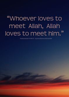 """Whoever loves to meet Allah, Allah loves to meet him. Until we realize that it is only Allah who is the source of peace, we will never be able to attain true peace of mind. The man who built Titanic was asked, how safe it would be? With an ironic tone he said: """"Not even God can sink it"""". Allah says in Quran: And do not walk upon the earth exultantly. Indeed, you will never tear the earth (apart), and you will never reach the mountains in height (Quran 17:37) Allah SWT listens & already k..."""