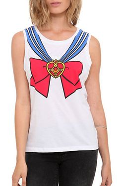 Hot Topic Sailor Moon Girls Uniform Muscle Tank Top http://www.moonkitty.net/buy-new-sailor-moon-tshirts.php