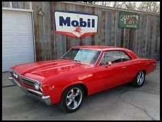 Red 1967 Chevrolet Chevelle  454 CI, Automatic