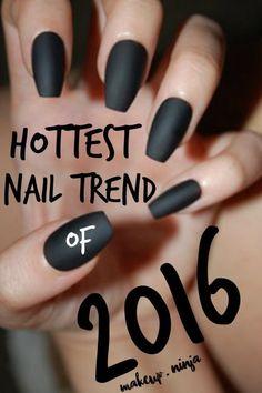 Nail Trends: Coffin Nails #nailart #howto #bellashoot