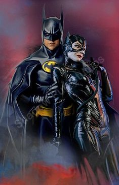Batman & Catwoman - Batman Art - Fashionable and trending Batman Art - Batman & Catwoman Batman Painting, Batman Artwork, Batman Drawing, Batman And Catwoman, Im Batman, Batman Stuff, Dc Comics, Keaton Batman, Batman Poster