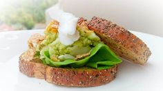 """Avocado And Coconut Diet Brunch Sandwich /DAY 5! """"MY SIGNATURE VERSION ~  ~ DAY 5 ~ MEATLESS DIET BRUNCH SANDWICH  ~  ~ LOVING IT""""  @allthecooks #recipe #sandwich #healthy #coconut"""