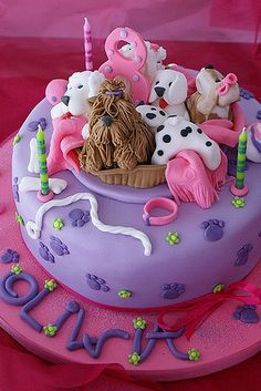 pups | The idea for this puppy cake is taken after i saw Abb… | Flickr