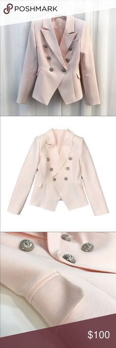 Blazers coming soon 🛍🛍🎊🎉 Available in pink 2017 New Fashion HIGH QUALITY Runway Style Women's Slim Jacket Solid Color Gold Buttons Double Breated Workwear Blazer Tops Jackets & Coats Blazers