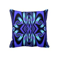 Purple Black and Aqua Geometric American MoJo Pillow
