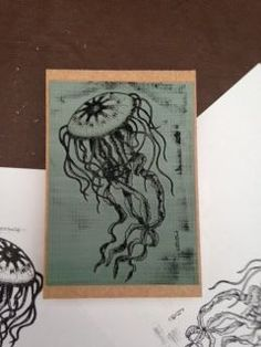 Laser Cutting Rubber Stamp (process), for local artist