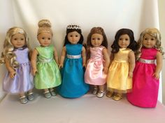 "18"" Doll Princess Dresses for American Girl Dolls"