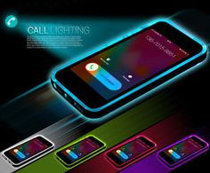 Shockproof LED Flash Light Up Remind Incoming Call Case Cover For iPhone 5 SE 6 Plus. Adjust the plate to the LED Blink ON, and then, setting your phone, then have incoming call blink flash function. Cool Iphone Cases, Cool Cases, Cute Phone Cases, Iphone 6 Plus Case, Iphone 7, Coque Iphone, Apple Iphone, Iphone Light, Mac Book