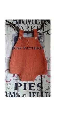 Baby Romper Knitting Pattern Douro / PDF PATTERN / Baby