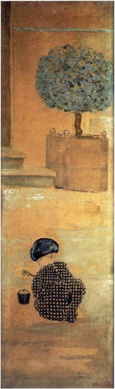 Pierre Bonnard, L'enfant au pâté de sable, 1894. Je pense souvent à ce tableau quand je regarde Chaton ces temps-ci.