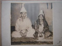 Vintage Photograph of a newly wedded couple.