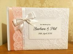 I haven't made a baby pink ribboned guestbook in a while!! Gorgeous  #wedding #brides #weddinginspiration #weddingday #guestbook #lace #ribbon #diy #vintage #classic #shabbychic #bespoke #unique #individual #crafty #craft #weddingday #love #personalised #engaged #gettingmarried #newlyengaged