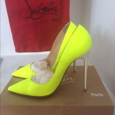 Christian  Louboutin shoes This shoe is in perfect condition only worn once, I had the red bottoms gripped so that the red color does not come off Christian Louboutin Shoes Heels