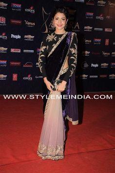 Anushka Sharma In Velvet Saree In Apsara Awards Mode Bollywood, Indian Bollywood, Bollywood Fashion, Indian Sarees, Pakistani, Sabyasachi Sarees, Bollywood Style, Anarkali, Bollywood Actress