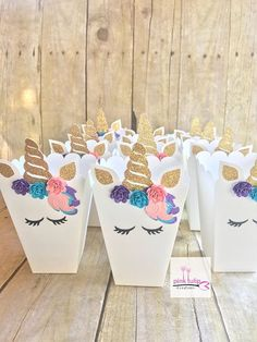 Birthday Box Small 28 Ideas For 2019 Unicorn Themed Birthday Party, Birthday Box, 1st Birthday Parties, Birthday Party Decorations, Unicorn Baby Shower, Unicorn Crafts, Party Time, First Birthdays, Popcorn Boxes