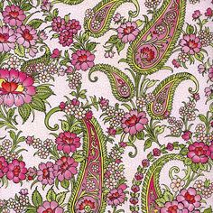 PInk and Green Paisley Specialty Paper ~ Germany