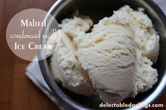 Malted Condensed Milk Ice Cream