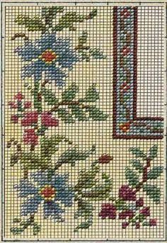 Berlin woolwork chart Cross Stitch Love, Cross Stitch Borders, Cross Stitch Flowers, Cross Stitch Designs, Cross Stitching, Cross Stitch Patterns, Hand Embroidery Videos, Embroidery Applique, Cross Stitch Embroidery