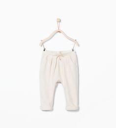 ZARA - KINDER - Jersey-Sarouelhose mit Schleifenapplikation und Taschen