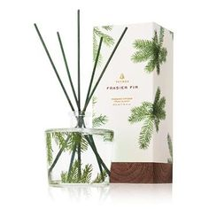 Thymes Frasier Fir Reed Diffuser spreads the freshly cut forest scent of crisp Siberian Fir needles, heartening cedarwood and relaxing sandalwood. Pine needle design and green glass. Holiday Gift Guide, Holiday Gifts, Perfume, Pine Needles, Trends, Home Fragrances, Cool Gifts, Creations, Ebay