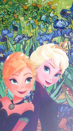 "annabjorgmans: "" ♡ Frozen & Van Gogh art phone wallpapers! ♡ PART 2 (pt. 1)…"