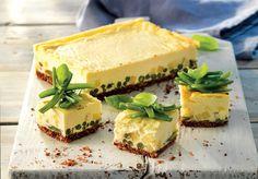 Cheesecake salata di fagiolini