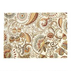 One of my favorite discoveries at ChristmasTreeShops.com: 5'x7' Cream Floral Paisley Area Rug