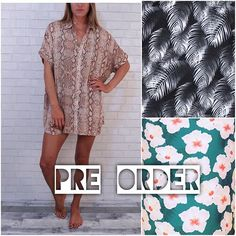 Pre-selling June/July delivery of @acaciaswimwear Mombasa shirt dress in Mahalo and Python. Sold out in Night Palm. . . . #fashion #love #photooftheday #instagood #bloggers #outfitoftheday #style #instalike #maui #acaciaswimwear #shirtdress #bestseller