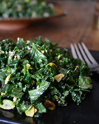 Kale Salad with Miso and Pistachios Recipe on Food & Wine