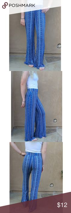 Mossimo Blue Aztec Flowy Pants Super soft and booty shaping (my favorite part of these!) Lightly worn. Became too short for a 6'0 tall girl! Feel free to ask any questions! Mossimo Supply Co Pants