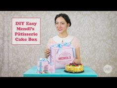 DIY Grand Budapest Hotel Mendl's Patisserie Cake box - Easy! Make your own! - YouTube video - Chamelle Designs - Please email me to get the files chamelledesigns@gmail.com