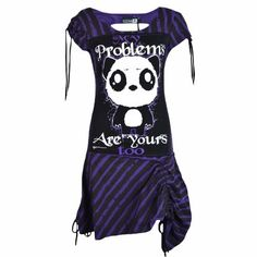 Kp Problem Dress Ladies Killer Panda New Gothic Emo Punk Osiris Fashion