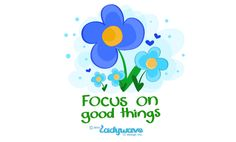 Focus on good things #ladywavedoodle #dailydoodle #happy #love #kids  http://ladywavedesign.blogspot.ca/2015/02/february-8th-2015-doodle.html