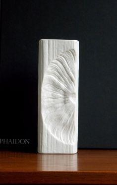 Matte white fossil vase designed by Martin Freyer for Rosenthal Germany from #MidCenturyFLA