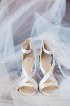 Modern Atlanta Wedding at American Spirit Works ⋆ Ruffled satin wedding shoes - photo by Casto Photo Satin Wedding Shoes, Wedding Heels, White Wedding Sandals, Ballet Wedding Shoes, Wedding Nails For Bride, Bridal Heels, Wedding Makeup, Summer Wedding, Dream Wedding