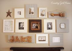 COUNTRY GIRL HOME : Boys Room Gallery Wall