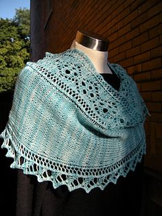 Knitting pattern: Fascia Shawl by Amy Maceyko for sale on Ravelry
