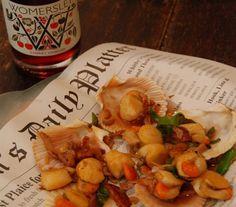 Yorkshire Chorizo & Scallops with Womersley Cherry Vinegar