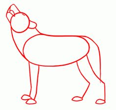 How to draw a cartoon wolfpup drawing tutorials pinterest how to draw howling wolves step now that you can draw the head and in particular the mouth of a howling wolf we can draw a full body one ccuart Gallery