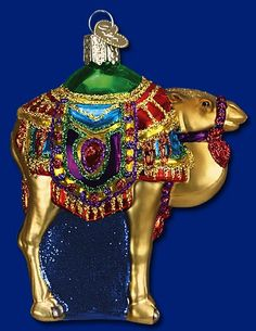 Magis' Camel, Glass Ornaments from Merck's Old World Christmas #glass #ornaments #Christmas