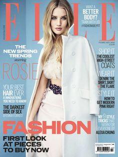 Rosie Huntington Whiteley, Rosie Whiteley, Fashion Magazine Cover, Fashion Cover, Magazine Covers, Poppy Delevingne, Magazine Mode, Elle Magazine, Claudia Schiffer