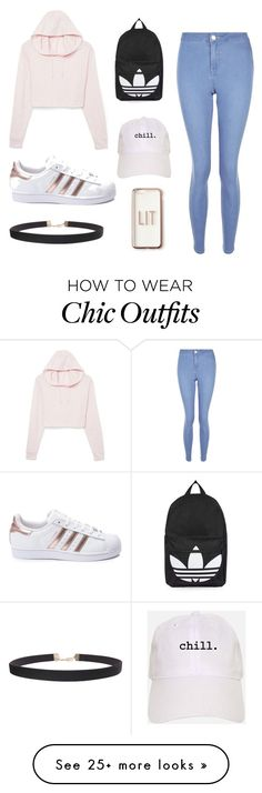 """""""school day"""" by sydney-volleyball on Polyvore featuring adidas, Topshop, New Look, Missguided and Humble Chic"""