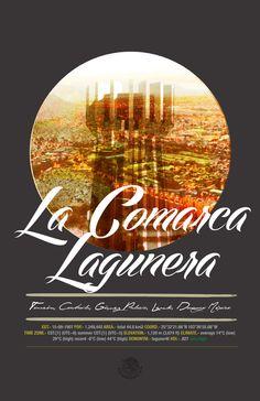 Cities of Mexico by Altäir Arts, via Behance, La Comarca Lagunera, Torreón, Coahuila, Gómez Palacio, Lerdo, Durango.