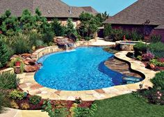 Small Inground Pool Designs | Thinking about a pristine pool to accentuate a beautiful landscaped ...