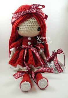 Valentina Amigurumi Doll Crochet Pattern by CarmenRent on Etsy
