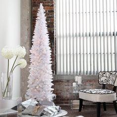 White Christmas Tree Walmart. Silver Tiffany Tinsel Prelit ...