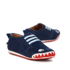 Shark Sneaker Kids Cow Suede Sneaker/Runner- EMU Australia