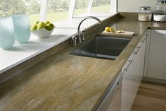 DuPont Corian Thyme Solid Surface Kitchen Countertops