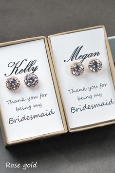 Adorable Bridesmaids Gifts For Your Girls - The Fab Wedding2 via Etsy