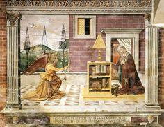Domenico Ghirlandaio - Annunciation in San Gimignano, Italy